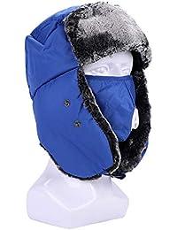 Unisex orejeras Hombre Mujer gorro ruso deporte esquí snowboard Equitation  pasamontañas orejeras sintético térmico sombrero cazador 53e4fbff8cf