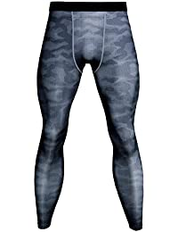 Hombres Compresión Leggings Camuflaje Polainas Pantalones Deportes Apretadas / M