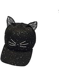 Vovotrade® ❃❃ Casquette de Baseball Femmes UNISEX de Sequin avec Une Oreille de Chat Vivante Snapback Caps Hip Hop Chapeaux Sun Cap