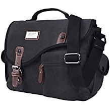 Lienzo bolso, de ekoos Unisex bolso bandolera de lona maletín Messenger Bag para trabajar Estudiar Viaje 32x 24x10cm