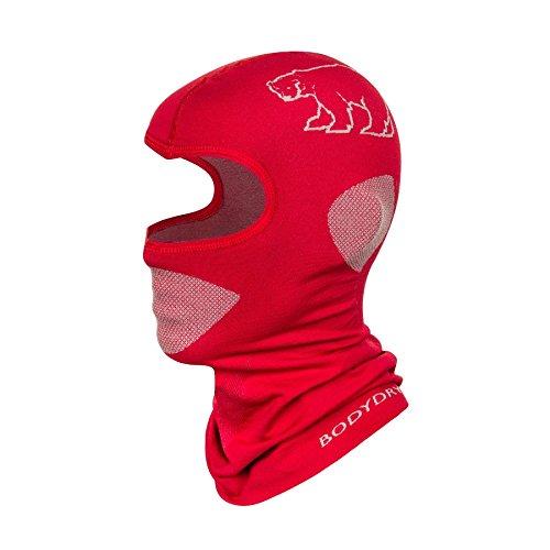 Bodydry Kinder und Damen Sturmhaube Skihaube Balaclava Skimaske viele Farben - Rot, S