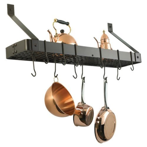 Old Dutch International Wall Mouned Pot Rack with Grid (Oiled Bronze) by Brand new - Old Dutch Pot