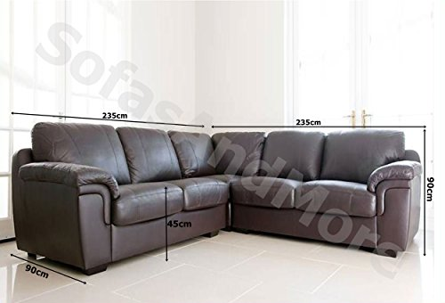 Dallas Chocolate Brown PU Leather Large corner Group Sofa Suite