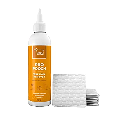 Pro Pooch Dog Tear Stain Remover | Gently Removes Eye Residue & Prevents Stains | No Harmful Chemicals