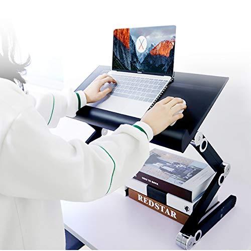 NYJS Computertisch , Computertisch Tragbarer Laptopständer Ergonomischer Klappbarer Laptoptisch, Verstellbarer Laptopständer, Klappbarer Computertisch Tischen,Computertisch (Color : White)