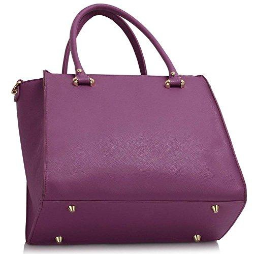 TrendStar Damen Entwerfer Schultertasche Damen Berühmtenart Kunstleder Handtaschen Lila