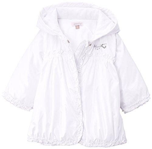 y (Mädchen 0-24 Monate) Mantel Parka, Einfarbig, Gr. 92 (Herstellergröße: 23 Mois), Weiß ()