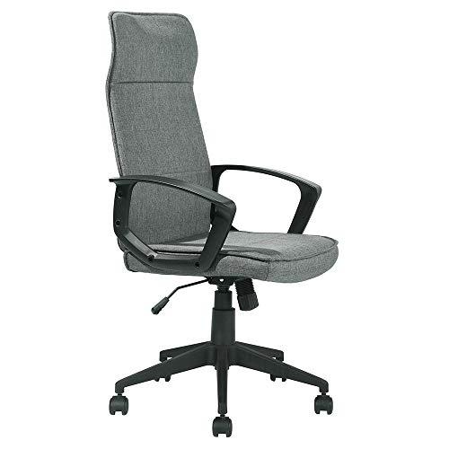 Aingoo Nylon-Bürostuhl mit hoher Rückenlehne und hoher Rückenlehne Verstellbare, ergonomische Lordosenstütze mit Butterfly-Mechanismus Grau -