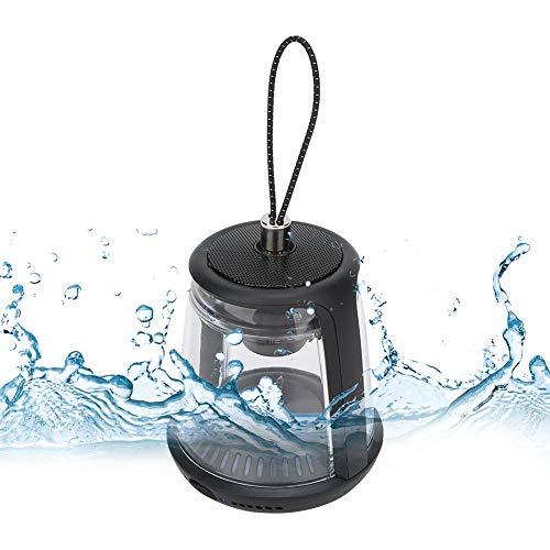 Jacksking Altavoz Bluetooth LED F400 Luz LED Azul