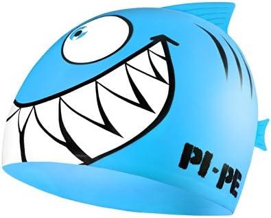 Pi-Pe - Gorro de baño infantil, diseño de tiburón
