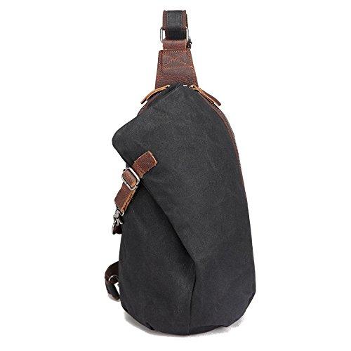 AOTIAN Unisex Zaino Monospalla impermeabile La Ceretta Tela Borsa a Spalla Sling Bag Chest Bag Garanzia due anni