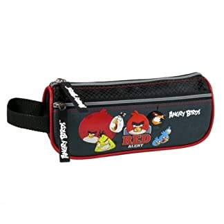 Maxi&Mini PEAB11 – Estuche escolar de Angry Birds, 2 compartimentos (también sirve como neceser de baño)