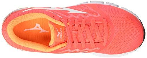 Mizuno Synchro Md (w), Chaussures De Course Multicolores Pour Femmes (fierycoral / Blanc / Orangepop)