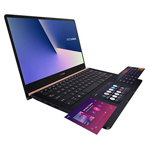 ASUS ZenBook Pro 14 UX480FD (90NB0JT1-M01040) 35,5 cm (14 Zoll, FHD, WV) Ultrabook (Intel Core i7-8565U, 16GB RAM, 256GB SSD, NVIDIA GeForce GTX1050 (4GB), Windows 10) Deep Dive Blue