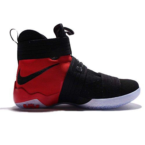 Nike Lebron Soldier 10 Sfg, Scarpe da Basket Uomo Nero/Rosso (Black/Black-university Red)