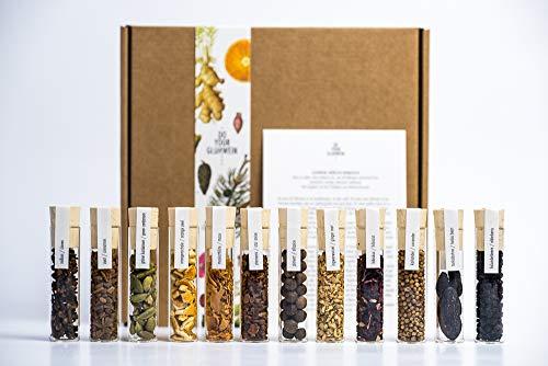 BOTANICALS für Glühwein | eigenen Glühwein herstellen by DO YOUR GIN® | 12 Glaszylinder mit Gewürzen für Glühwein