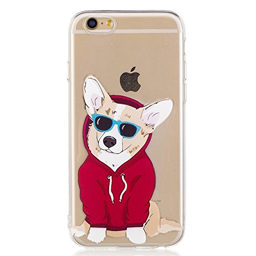 iPhone 6 Hülle, Voguecase Silikon Schutzhülle / Case / Cover / Hülle / TPU Gel Skin für Apple iPhone 6/6S 4.7(Corgi) + Gratis Universal Eingabestift Corgi