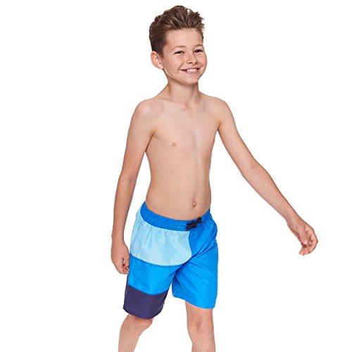 Preisvergleich Produktbild Zoggs Jungen 's Grid Work Panel Badeanzug, Jungen, Grid Work Panel, Navy/Blau