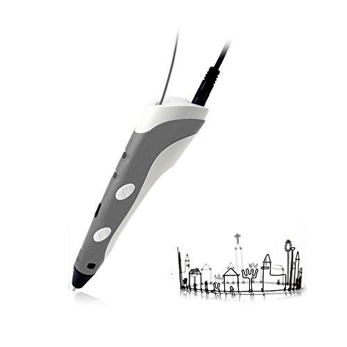 AFUNTA 3D-Druck-Feder-Einsatz mit 1,75 mm ABS Filament für 3D-Zeichnen und Kritzeln des European Market (Grau)