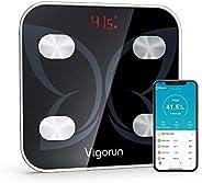 Vigorun Bilancia Pesapersone Digitale, Bilancia Bluetooth Impedenziometrica Analizzatore Bilancia Intelligente