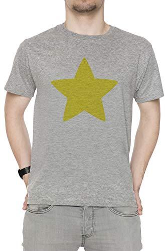 es Star Herren T-Shirt Rundhals Grau Kurzarm Größe XL Men's Grey T-Shirt X-Large Size XL ()