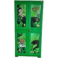 Cello Big Mowgli Kids Plastic Cabinet Green,2 door