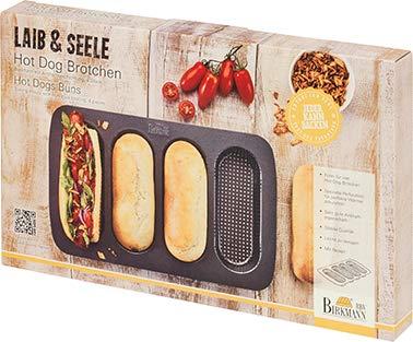 Birkmann Hot Dog Brötchen Buns, Laib, Seele Backform 210394