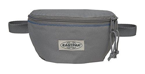 Eastpak Springer Marsupio Sportivo, 2 Litri, Nero (Black) Grigio (Grey Stitched)