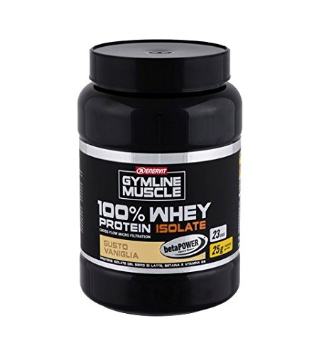 Enervit Gymline Muscle 100% Whey Protein Isolate + Betain Gusto Vaniglia Integratore Alimentare 700g