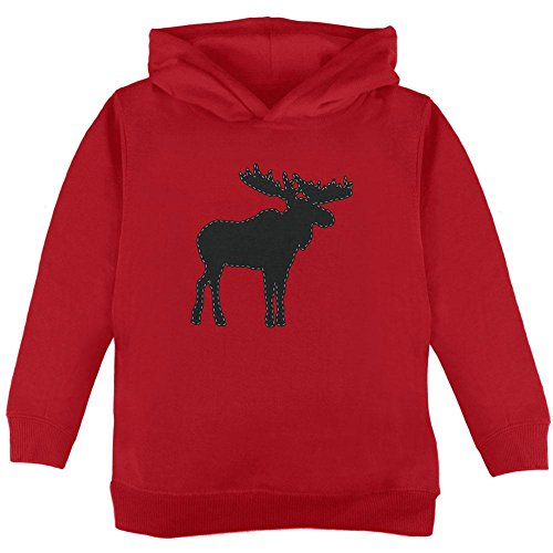 Old Glory Moose Faux Stitched Kleinkind Hoodie