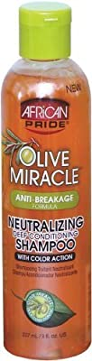 African Pride Olive Miracle Neutralizing Deep Conditioning Shampoo 8 oz. - Reviews