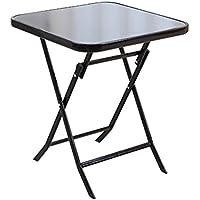 Yuan Table Familia - Pequeña Mesa Plegable - Snack Table - Camping Outdoor Garden Plaza - Negro - Comedor Plegable y Juego de café y té - Estación de Trabajo informática/Desk