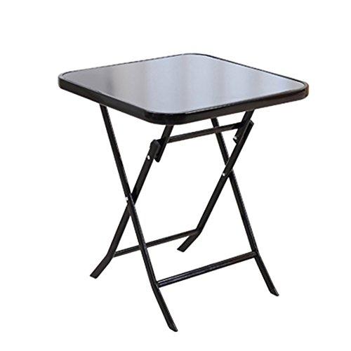 Table pliante YXX Accueil Petite de Casse-croûte pour Camper Le carré extérieur de Jardin Noir Se Pliant dinant et Bureaux de café et de thé Postes de Travail d'ordinateur