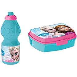 Disney 755732/755774- Set Frozen Borraccia Sport da 400 ml e Portamerenda