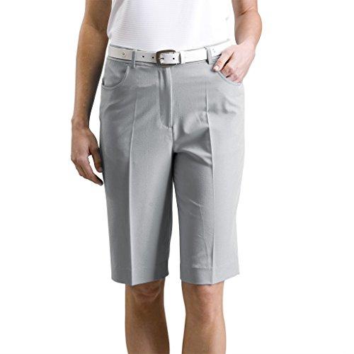 Monterey Club Damen Dehnbar Bermuda Shorts # 2835 grau grau Size:16 - Oakley Golf Shorts