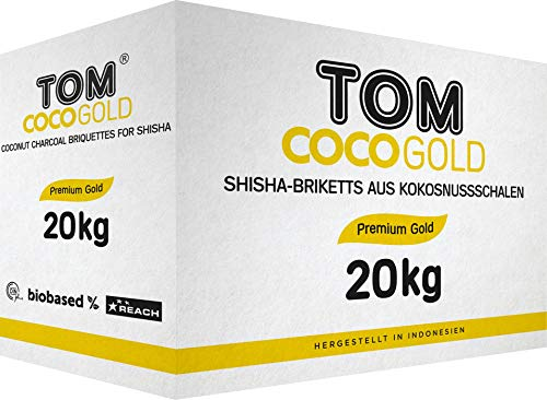 Tom Cococha gold 20 kg für Shisha und BBQ