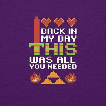NERDO - Back in my Day this was all you needed - Damen T-Shirt Violett