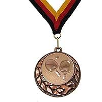 JoGo Medaille Ø70mm Tischtennis bronzefarben mit Band