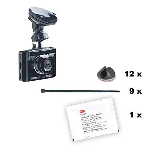 Preisvergleich Produktbild Kabel Montage Kit für Dashcams von iSHOXS,  Kabel-Clips,  Kabelbinder und Verlegehinweise