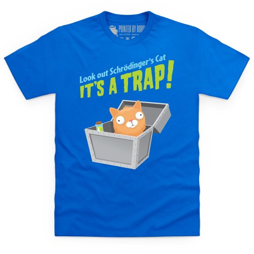 Schrodinger's Cat - It's A Trap! T-Shirt, Herren Royalblau