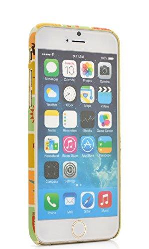 iProtect Schutzhülle Camouflage Apple iPhone 6, 6s Hardcase braun Reise Sticker