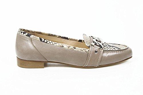 mocassino donna versace 19.69 abbigliamento sportivo milano ladies loafer 7016 capretto beige -- 42 it - 12 us