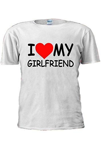I Love My Girlfriend Girl Friend Heart Tumblr Fashion Unisex T Shirt Top Men Women Ladies-S