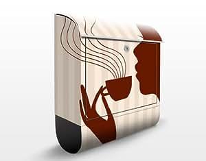 Design Briefkasten Hot Coffee 39x46x13cm Briefkasten Edelstahl