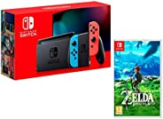 Nintendo Switch Oyun Konsolu, The Legend Of Zelda: Breath Of The Wild, Kırmızı/Mavi