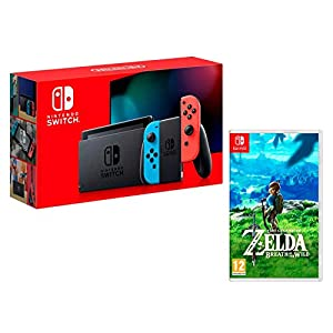 Nintendo Switch V2 32Gb Neon-Rot/Neon-Blau [neues model] + Zelda: Breath of the Wild