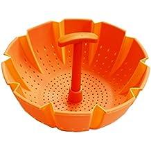 lemarle silicona vegetal Steamer Cesta con asa cool, anti-arañazos, resistente al calor–batería de cocina