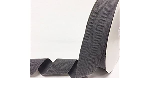 N.B. this is a cut from a roll, presented on a Berties Bows card Berties Bows 10mm Silver Grey Cotton Herringbone Tape//Webbing on a 4m Length