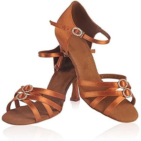 SONGYUNYANVaca peluche suave interior las mujeres zapatos de raso de baile latino , 35