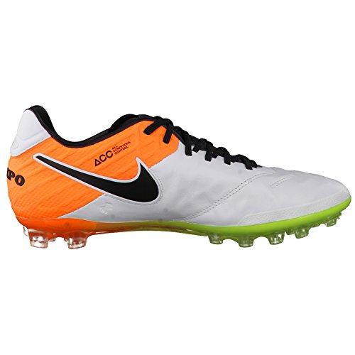 Nike Tiempo Legend Vi Ag-r, Scarpe da Calcio Uomo Bianco (Blanco (White / Black-Total Orange-Volt))